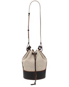 Balloon Anagram Linen & Leather Bag