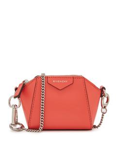 Antigona Baby coral leather cross-body bag