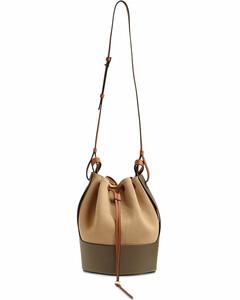 Balloon Cotton Canvas & Leather Bag