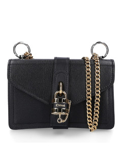 Handbag ABY calf leather logo black