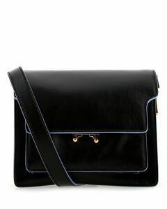 Black leather Trunk Soft crossbody bag
