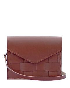 爱德华- Naver砖红色编织斜挎包mini型