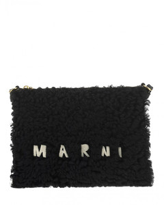 Baguette Bag In Brown Leather And Velvet
