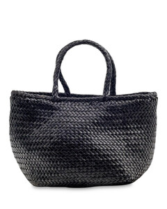 Grace Small Woven Leather Basket Bag