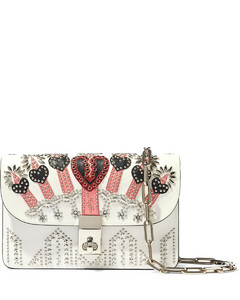 Garavani Woman Love Blade Embellished Leather Shoulder Bag