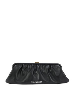 Cloud XL leather clutch with stap
