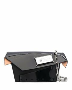 Gusset leather bucket bag