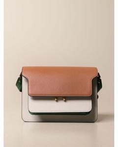 Trunk shoulder bag in saffiano leather