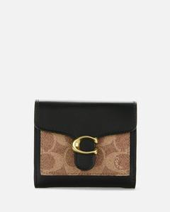 Women's Colorblock Tabby Small Wallet - Tan Black