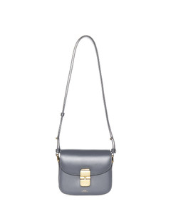 Rockstud leather wallet on chain