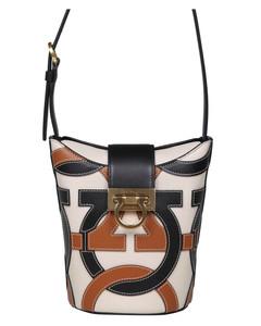 Embleme Saffiano leather shoulder bag
