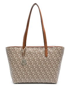 Deux small leather tote bag