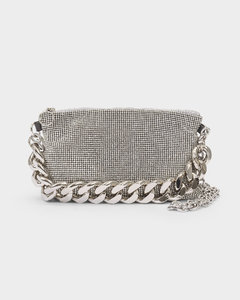 Bag Chain Mail Crossbody In Silver Mesh