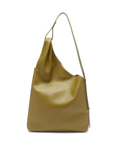 Lune grained-leather shoulder bag