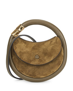 Disc suede pouch