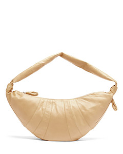 Croissant leather belt bag