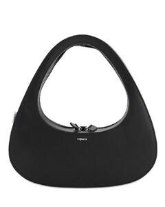 Baguette Leather Top Handle Bag
