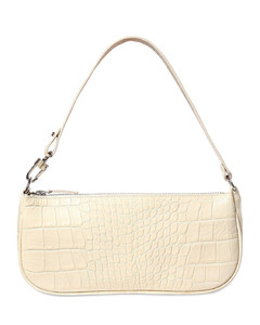 Rachel Croc Embossed Leather Bag