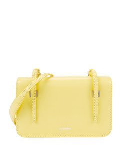 Holster mini yellow leather shoulder bag