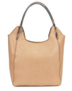 Falabella Two Chain large camel tote