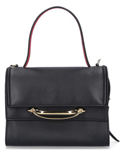 Handbag THE STORY Calfskin Logo black