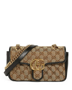 Small Canvas GG Marmont Shoulder Bag