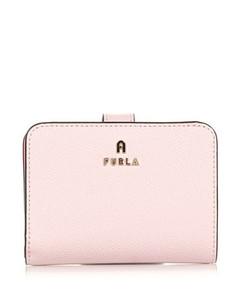 Intrecciato Woven Bi-Fold Wallet in Pink