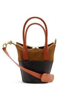 Carrousel suede and leather bag