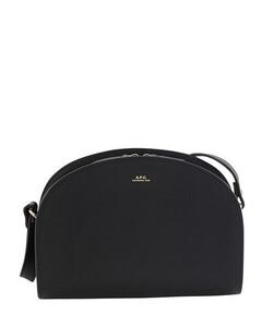 Half-moon bag embossed leather