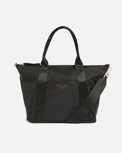 neutral ID small leather shoulder bag