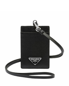 Leather Badge Holder with Strap