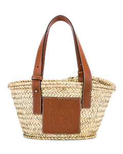 Basket Small Bag in Brown,Neutral