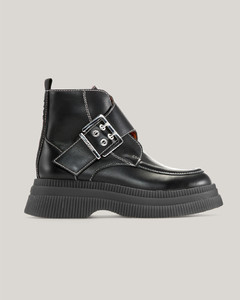 Hourglass leather shoulder bag