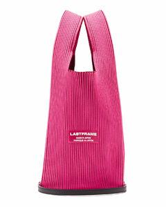 Two Tone rib-knit tote bag