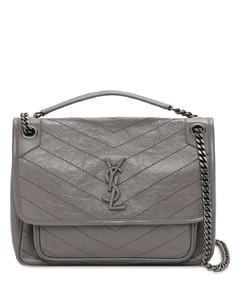 Medium Niki Monogram Leather Bag