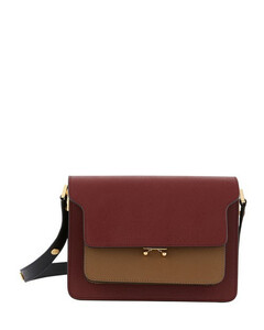 Trunk crossbody bag in smooth calfleather