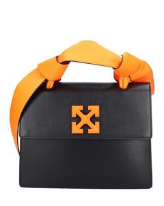 Handbag JITNEY 1.4 Calfskin logo black neon orange