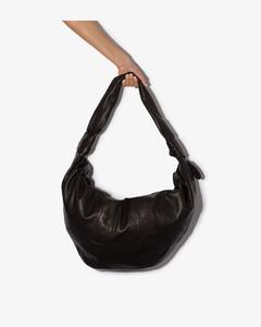 large Croissant leather crossbody bag