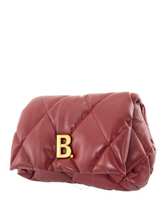 Balenciagia Ladies Medium Quilted Nappa Calfskin Touch Puffy Clutch