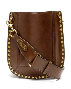 Nasko studded leather shoulder bag