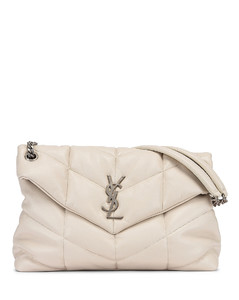 Medium Monogramme Puffer Loulou Shoulder Bag in Neutral