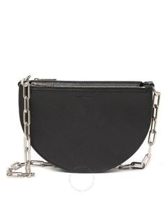 Pecan Chain Strap Leather Shoulder Bag