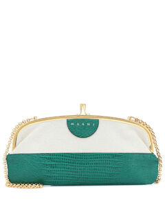Embossed leather clutch