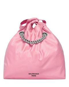 Handbag MARCIE S FRINGE Calfskin Logo white