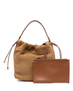 Mon tresor bucket bag in leather with embossed logo