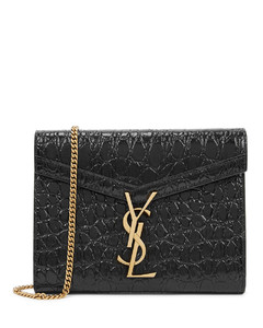 Cassandra crocodile-effect leather wallet-on-chain