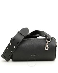 Black Ladies Cylinder Leather Shoulder Bag