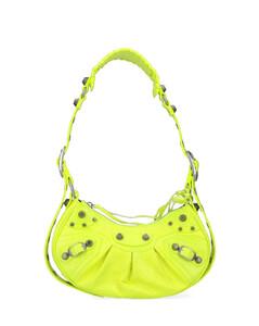 Vague orange leather shoulder bag