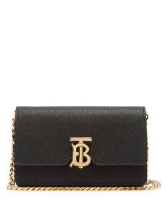 Carrie TB-monogram leather cross-body bag