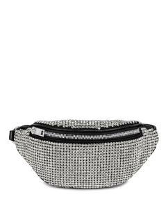 Attica Soft Mini Fanny Crossbody Bag in Metallic Silver